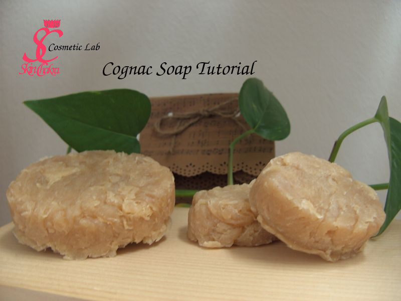 Cognac soap and gift bag