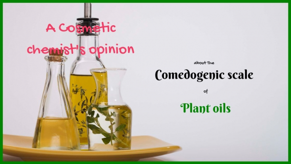 the comedogenic scale of plant oils
