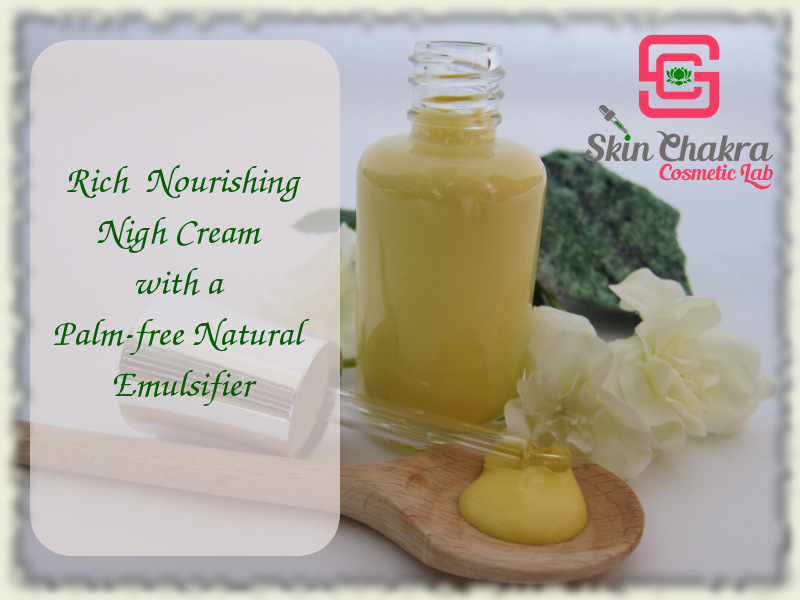 How to work with a palm-free emulsifier