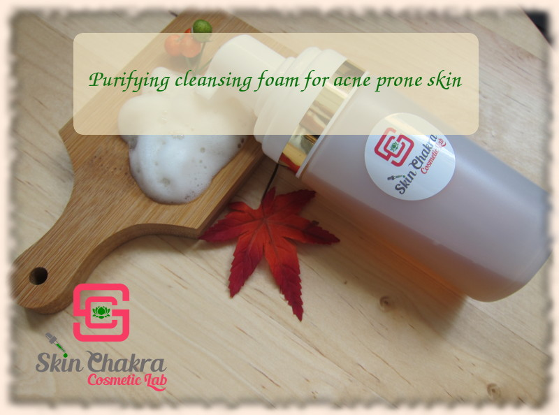 cleansing foam for acne skin