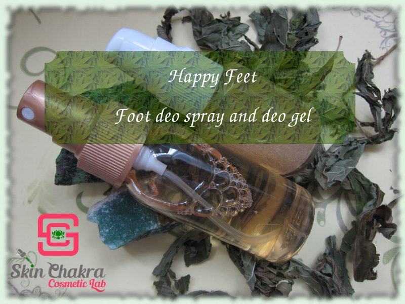 natural foot deo gel and spray
