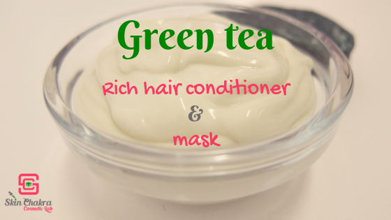 green tea-natural hair conditioner-tutorial