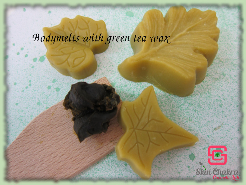 lotion bar with green tea wax