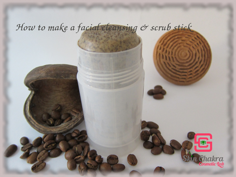 facial cleansing stick and coffee scrub tutorial