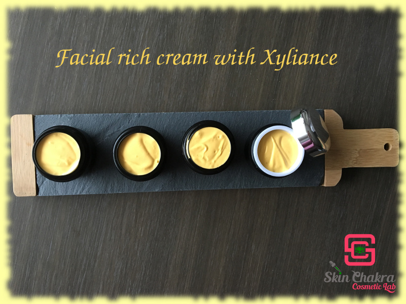 Rich facial cream with xyliance