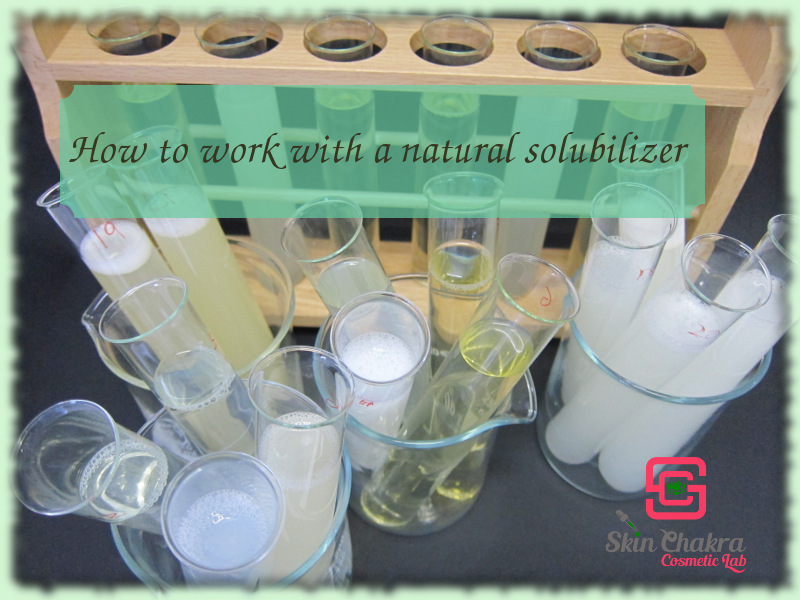 How to work with a natural solubilizer - Swettis Beauty Blog