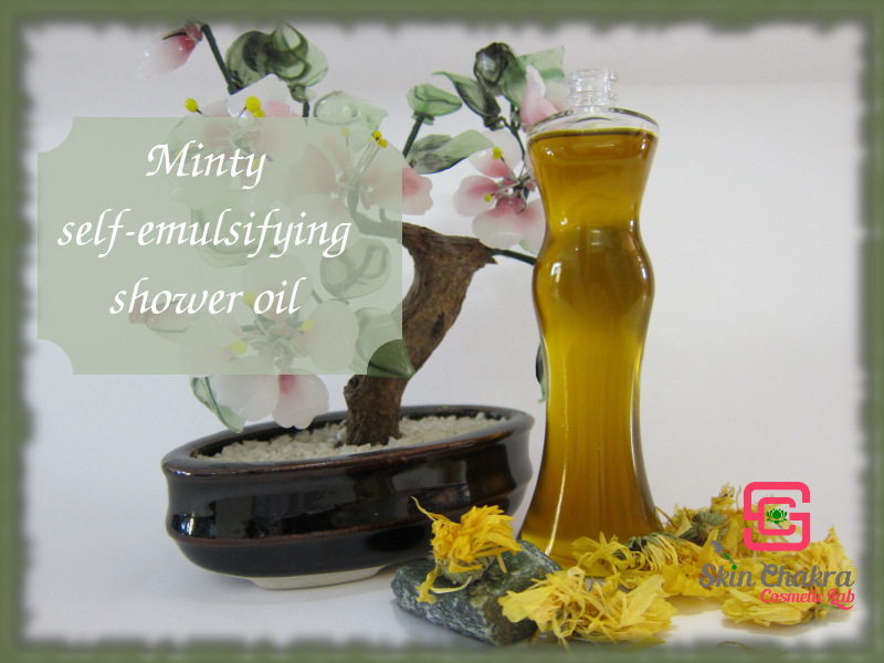 how to make a shower oil