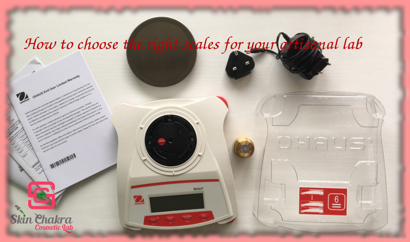 suitable scales for skincare formulation lab