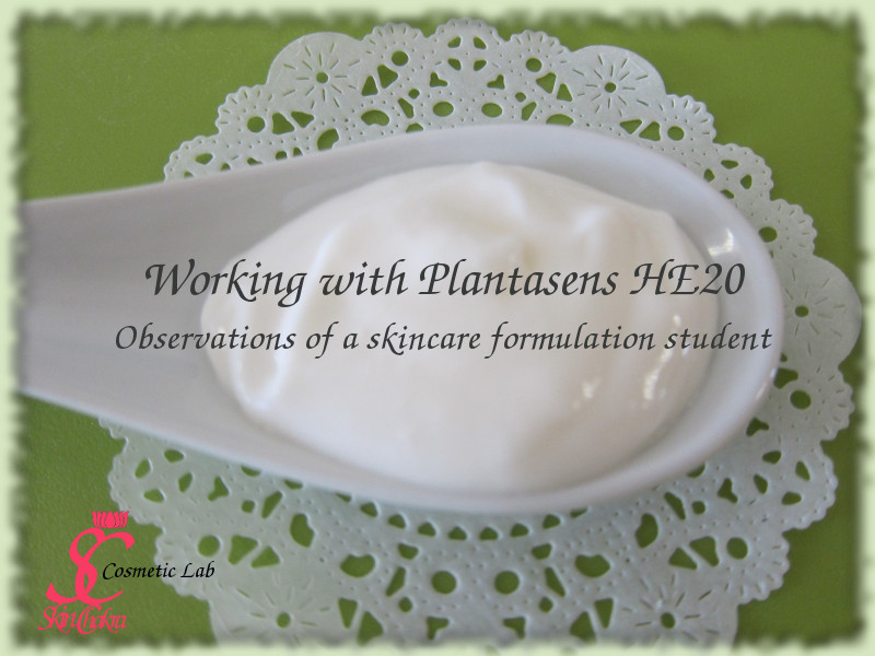 How to work with Plantasens HE20: a cosmetic formulation student's