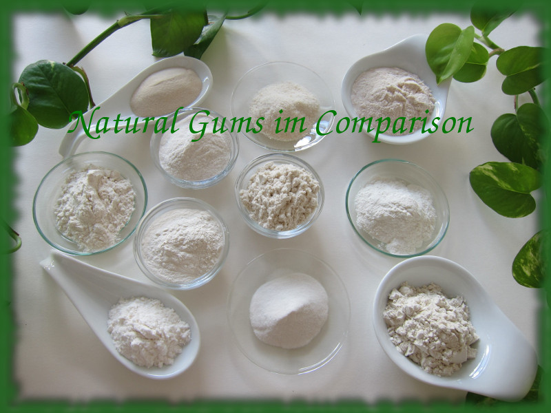 comparison of natural gums