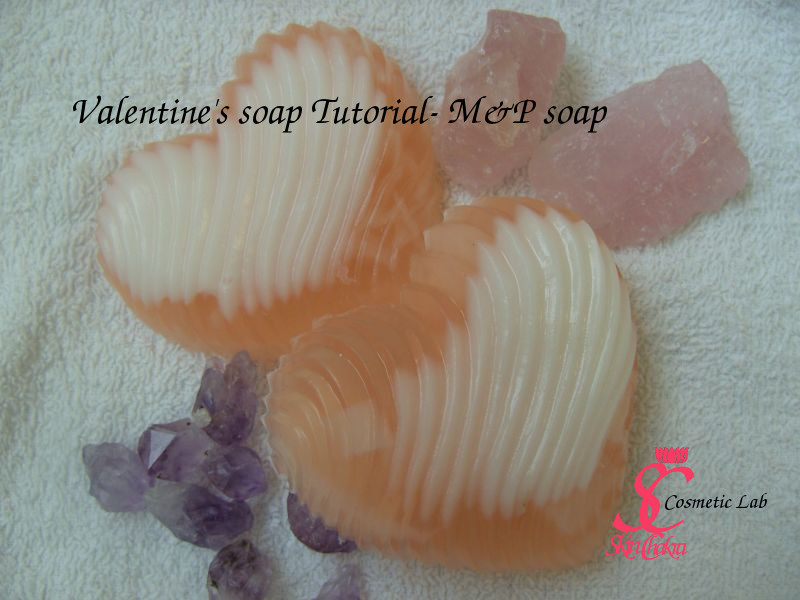 textured heart soap