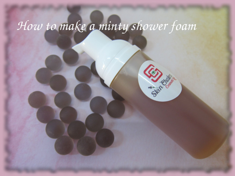 how to make minty shower foam