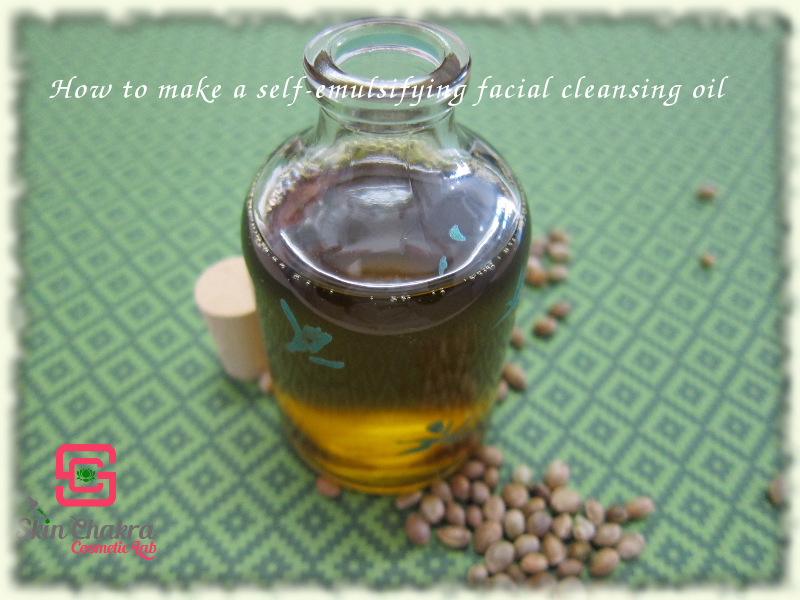 how to make a self-emulsifying cleansing oil