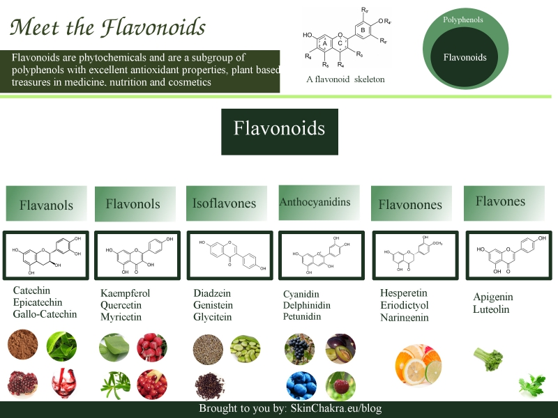 Flavonoids are a subgroup of polyphenols