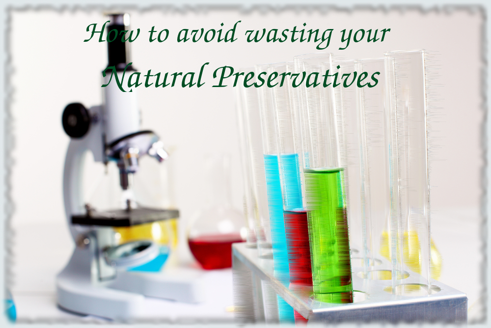 How to work with natural preservatives