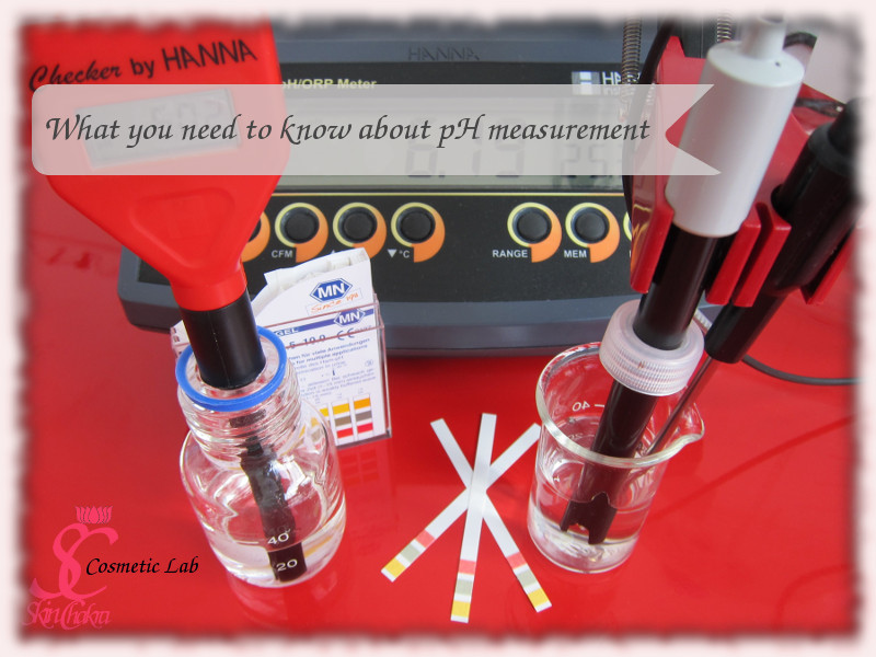 how to measure pH in a cosmetic lab