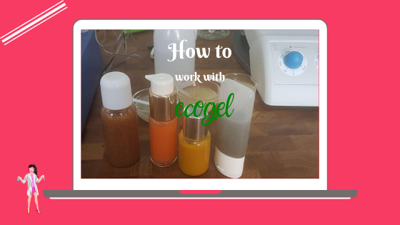 How to work with ecogel in an artisanal lab