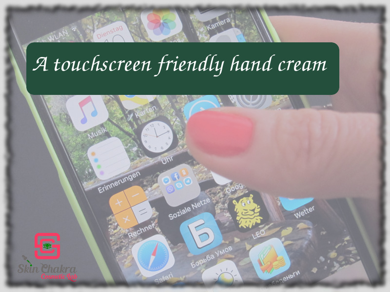 how to make a touchscreen friendly hand cream
